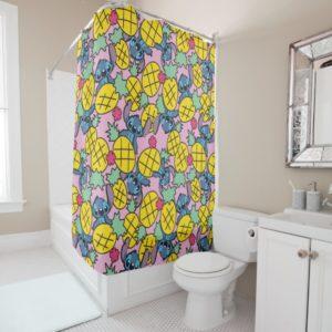 Lilo & Stitch   Pineapple Pattern Shower Curtain