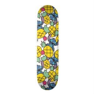 Lilo & Stitch | Pineapple Pattern Skateboard Deck