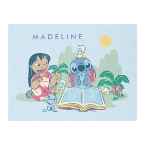 Lilo & Stitch   Reading the Ugly Duckling Fleece Blanket