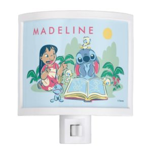 Lilo & Stitch | Reading the Ugly Duckling Night Light