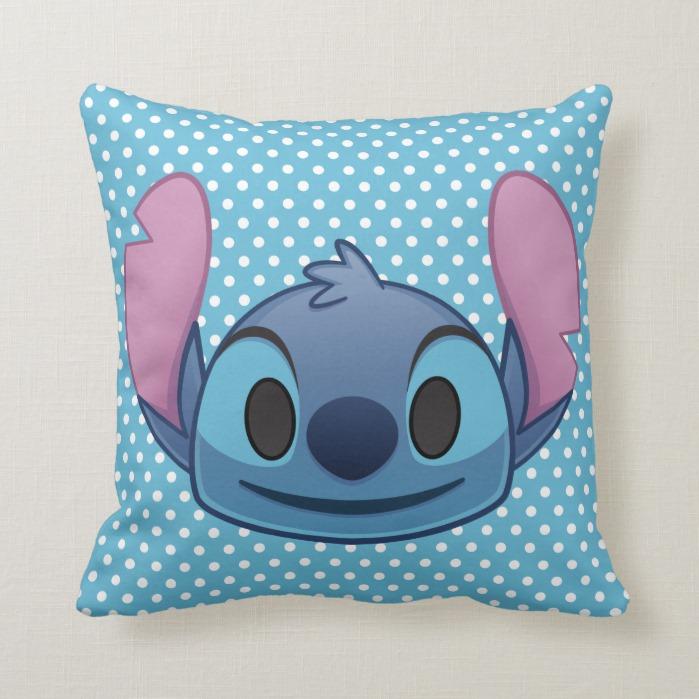 Lilo & Stitch   Stitch Emoji Throw Pillow