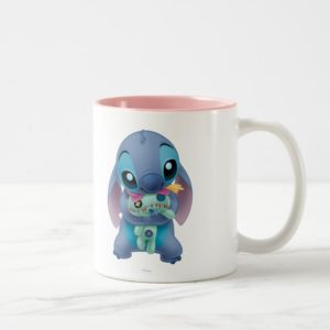 Lilo & Stitch | Stitch with Ugly Doll Two-Tone Coffee Mug