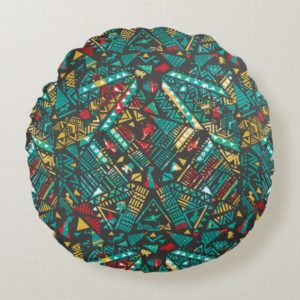 Lion Guard | African Pattern Round Pillow