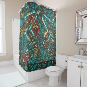 Lion Guard | African Pattern Shower Curtain