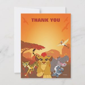 Lion Guard Thank You | Birthday