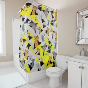 Lion Guard   Triangle Pattern Shower Curtain