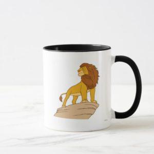 Lion King adult Simba standing proud on rock cliff Mug