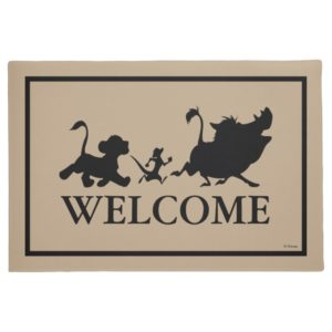Lion King Silhouette | Welcome Doormat