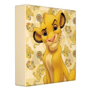 Lion King | Simba on Triangle Pattern Binder