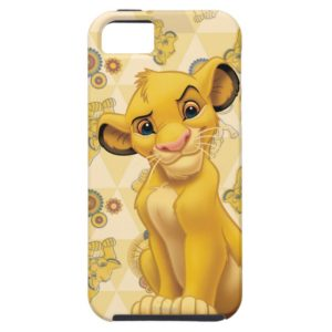 Lion King | Simba on Triangle Pattern Case-Mate iPhone Case