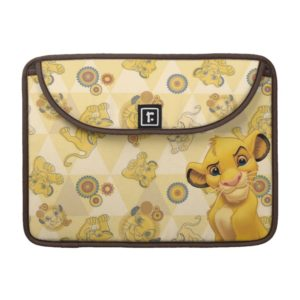 Lion King | Simba on Triangle Pattern MacBook Pro Sleeve