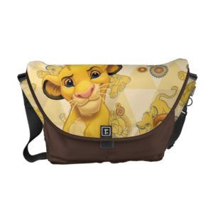 Lion King | Simba on Triangle Pattern Messenger Bag