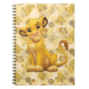 Lion King | Simba on Triangle Pattern Notebook