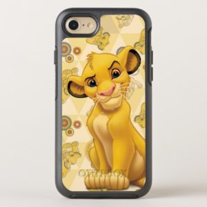 Lion King | Simba on Triangle Pattern OtterBox iPhone Case