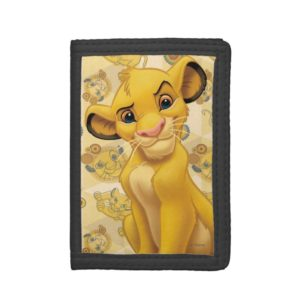 Lion King | Simba on Triangle Pattern Trifold Wallet