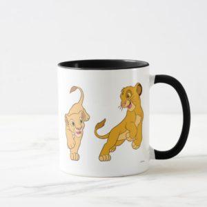 Lion King's Simba and Nala Playing Disney Mug