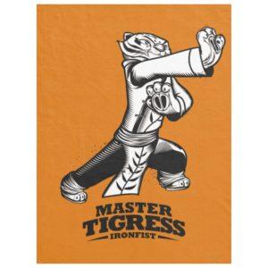 Master Tigress Ironfist Fleece Blanket
