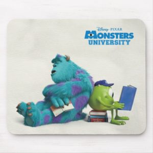 Mike and Sulley Reading Mouse Pad