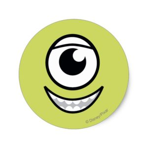 Mike Face Classic Round Sticker