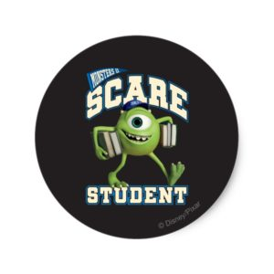 Mike Scare Student 2 Classic Round Sticker