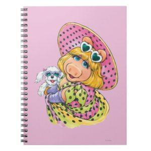 Miss Piggy Holding Puppy Notebook