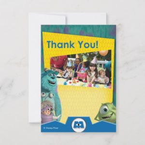 Monsters Inc. Birthday Thank You Cards