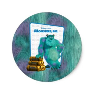 Monsters, Inc. Sulley Classic Round Sticker