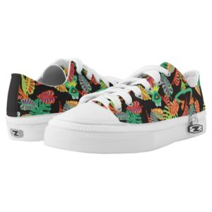 Muppets | Tropical Kermit & Animal Pattern Low-Top Sneakers
