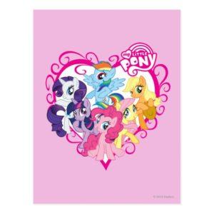 My Little Ponies Heart Postcard