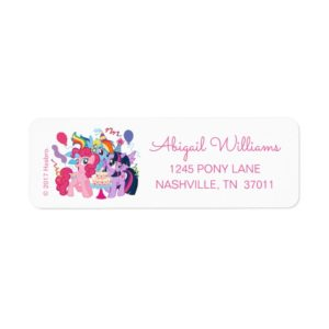 My Little Pony | Birthday Label