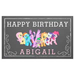 My Little Pony | Chalkboard Birthday Banner
