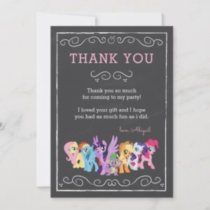My Little Pony | Chalkboard Birthday - Thank You