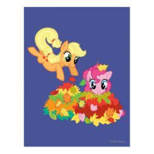 My Little Pony Fall Leaves Postcard