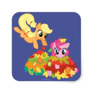 My Little Pony Fall Leaves Square Sticker