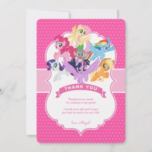 My Little Pony | Hot Pink Birthday Thank You Card
