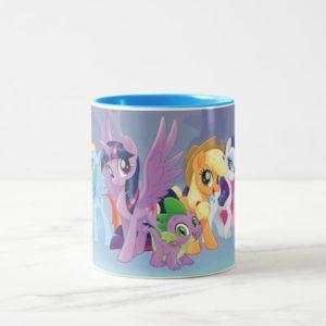 My Little Pony   Mane Six in Equestria Two-Tone Coffee Mug