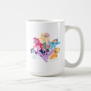 My Little Pony   Mane Six on Clouds Coffee Mug