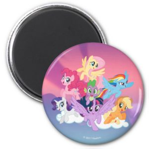 My Little Pony | Mane Six on Clouds Magnet
