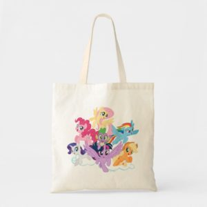 My Little Pony | Mane Six on Clouds Tote Bag