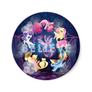 My Little Pony | Mane Six Seaponies - Believe Classic Round Sticker