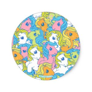 My Little Pony | Pastel Pattern Classic Round Sticker