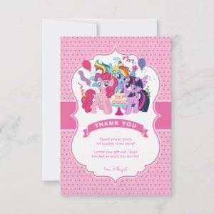 My Little Pony | Pink Birthday Thank You