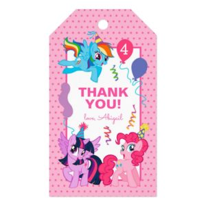 My Little Pony | Pink Birthday Thank You Gift Tags