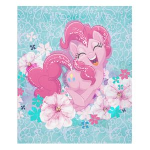 My Little Pony | Pinkie Running Through Flowers Fleece Blanket