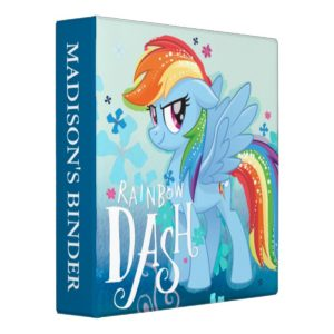 My Little Pony | Rainbow Dash Watercolor Flowers 3 Ring Binder