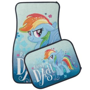 My Little Pony | Rainbow Dash Watercolor Flowers Car Mat