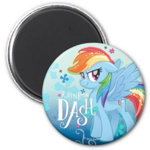 My Little Pony | Rainbow Dash Watercolor Flowers Magnet