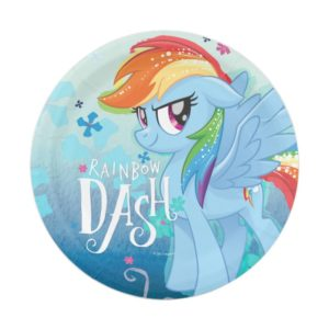 My Little Pony | Rainbow Dash Watercolor Flowers Paper Plate