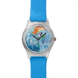 My Little Pony | Rainbow Dash Watercolor Flowers Wrist Watch