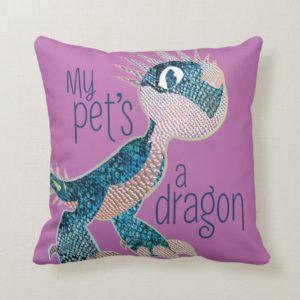 My Pet's A Dragon Throw Pillow